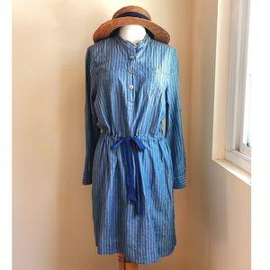 Lands End Chambray Yarn Dyed Shirt Dress